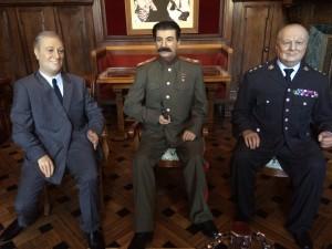 Churchill, Roosevelt und Stalin: Zumindest in Wachs und geschönt noch präsent